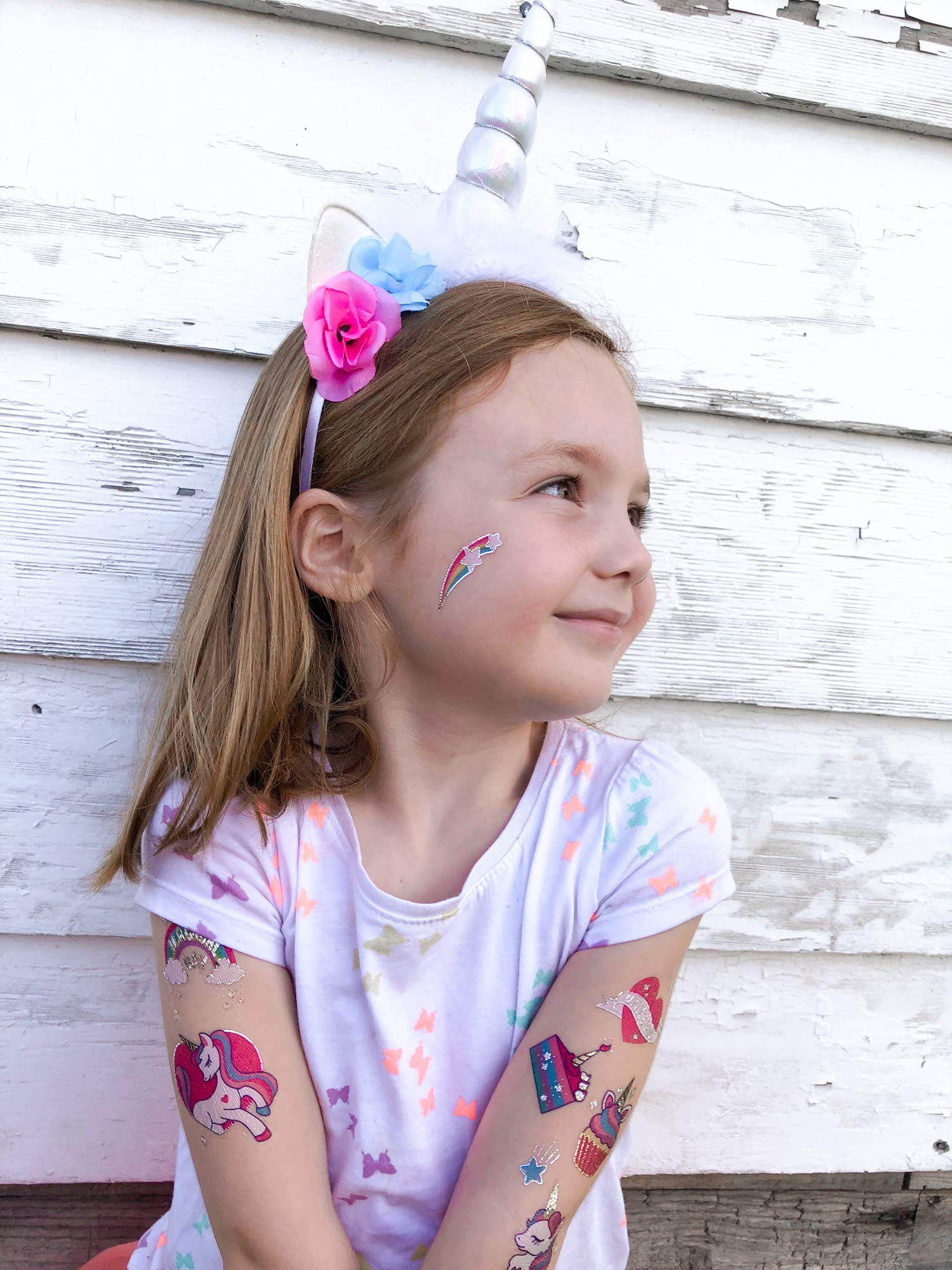 xo, Fetti Unicorn Party Supplies Temporary Tattoos for Kids - 36 Glitter Styles | Unicorn Party Favors and Birthday… 7