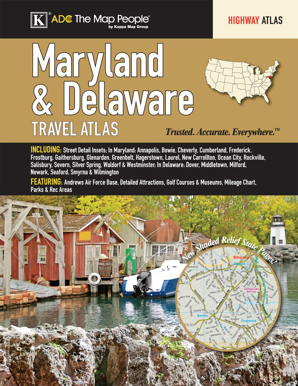 Maryland Delaware State Travel Atlas product image