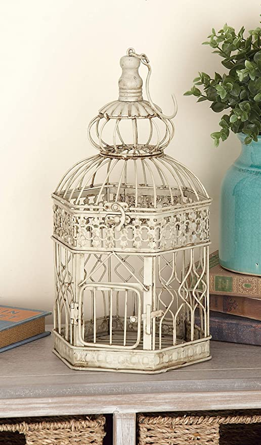 Amazon Com Deco 79 Metal Bird Cage 21 Inch And 18 Inch Set Of 2 Patio Metal Decor Pet Supplies