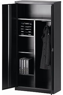 CAMDEN Armoire vestiaire style industriel en métal laqué noir - L ...