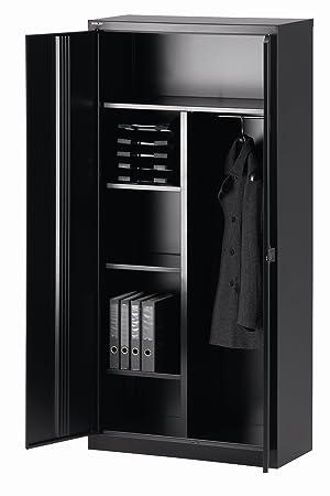 Bisley Armoire portes battantes UNIVERSAL vestiaire noir