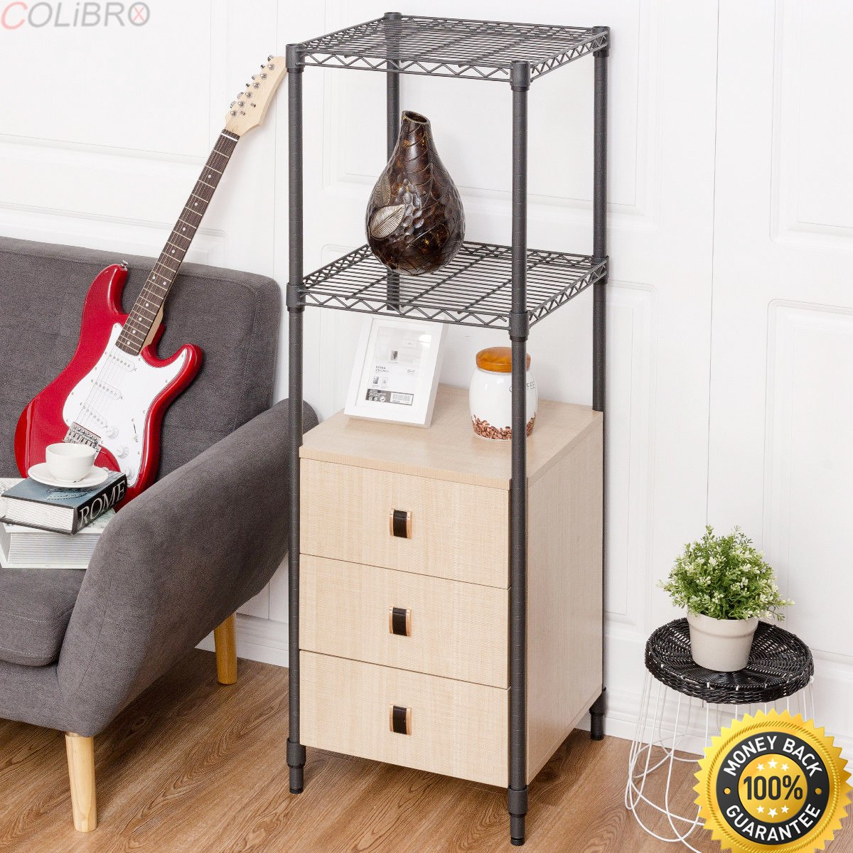 COLIBROX--Steel Frame Storage Tower Floor Cabinet Unit Freestanding Bath 3 Drawers Shelf. wall shelves with drawers. steelcase universal storage cabinet. steelcase shelf. steelcase cabinet parts.