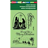 Stampendous Rubber Perfectly Clear Christmas Stamps 4-inch x 6-inch Sheet-Christmas Nativity
