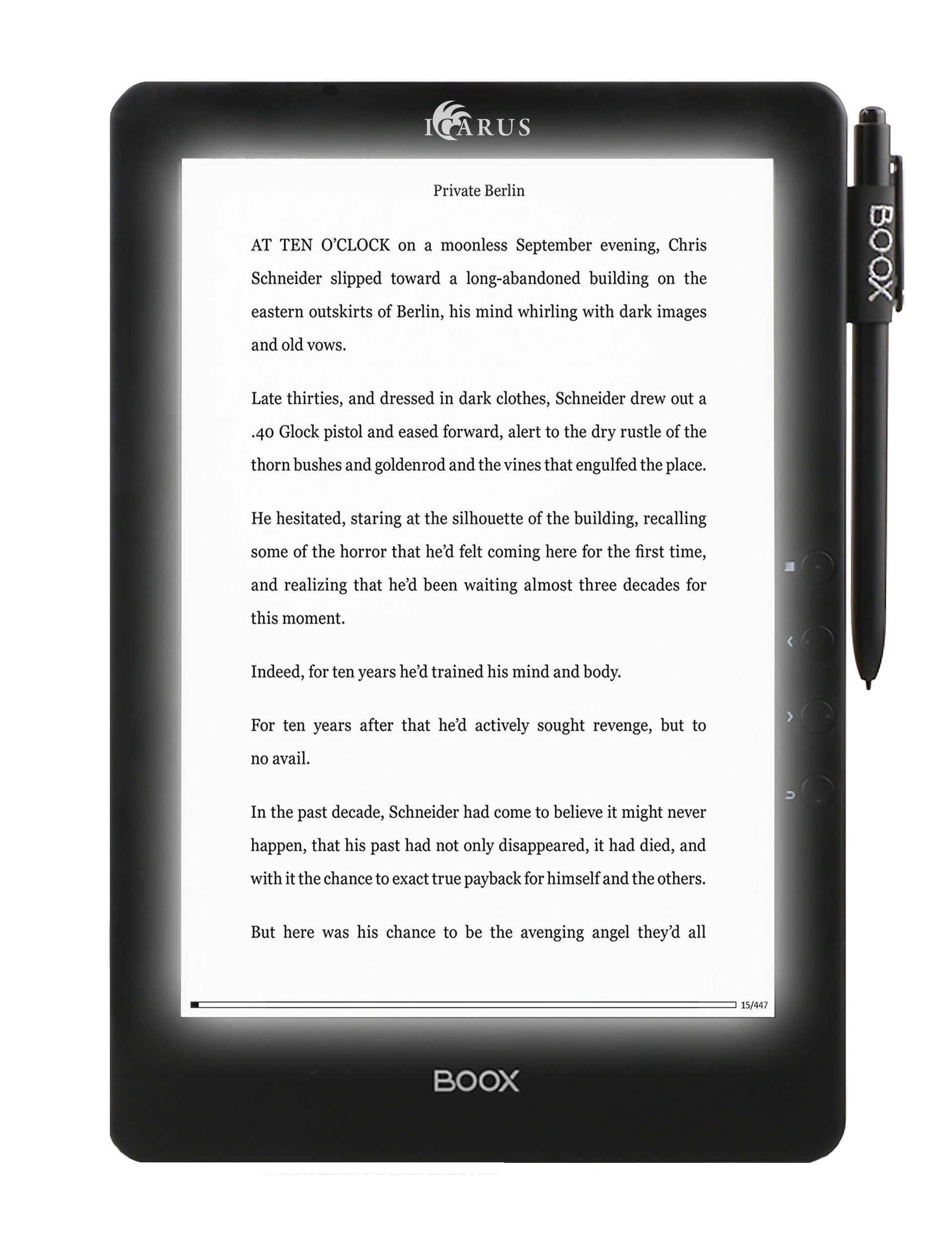 Icarus Illumina Pro E1053BK 9.7'' e-reader (Android 4.0) with touchscreen, handwriting and wifi