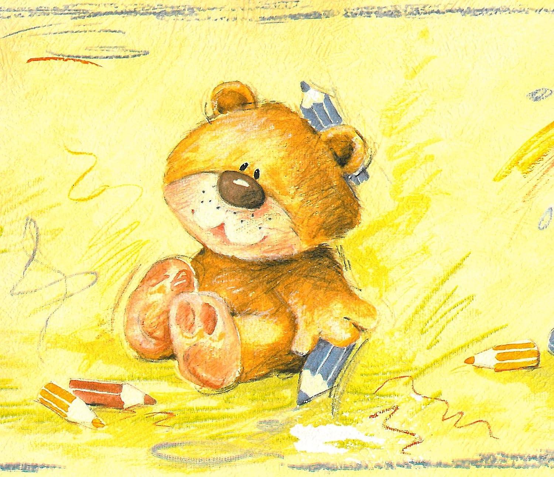 Rasch Teddy Bär Bordüre 5 M lang x 17 cm breit selbstklebend NEU ...
