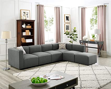 Amazon.com: Four-seat Sofas with Combination Chaise Longue ...