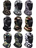 9 Pieces Summer Balaclava Face Cover Breathable Sun Dust Protection Neck Gaiter Scarf Full Face Cover for Outdoor…