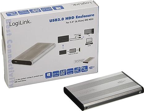 LogiLink - Carcasa Externa USB 2.0 para Disco Duro IDE (2,5