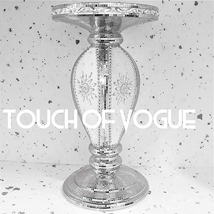 Tavolino a specchio Touch of Vogue TOV/® colore: argento stile moderno