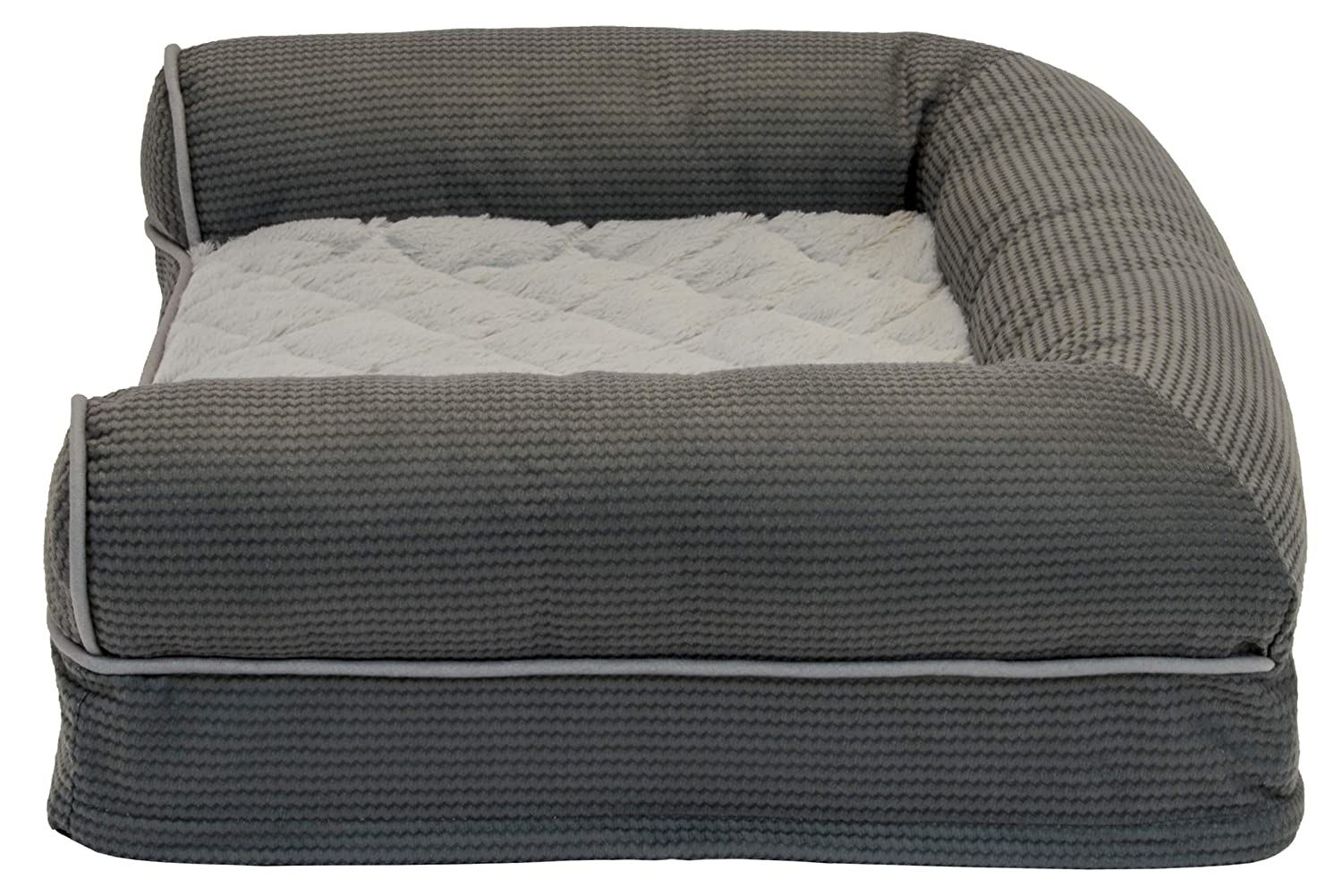 Sealy Premium Ultra Plush Orthopedic Sofa-Style Couch Bolster Dog Bed
