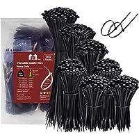 Zip Ties Assorted Sizes 700 Pack 4+6+8+10+12 Inch Cable Ties Heavy Duty 40lbs Plastic Wire Ties UV Resistant Zipties…