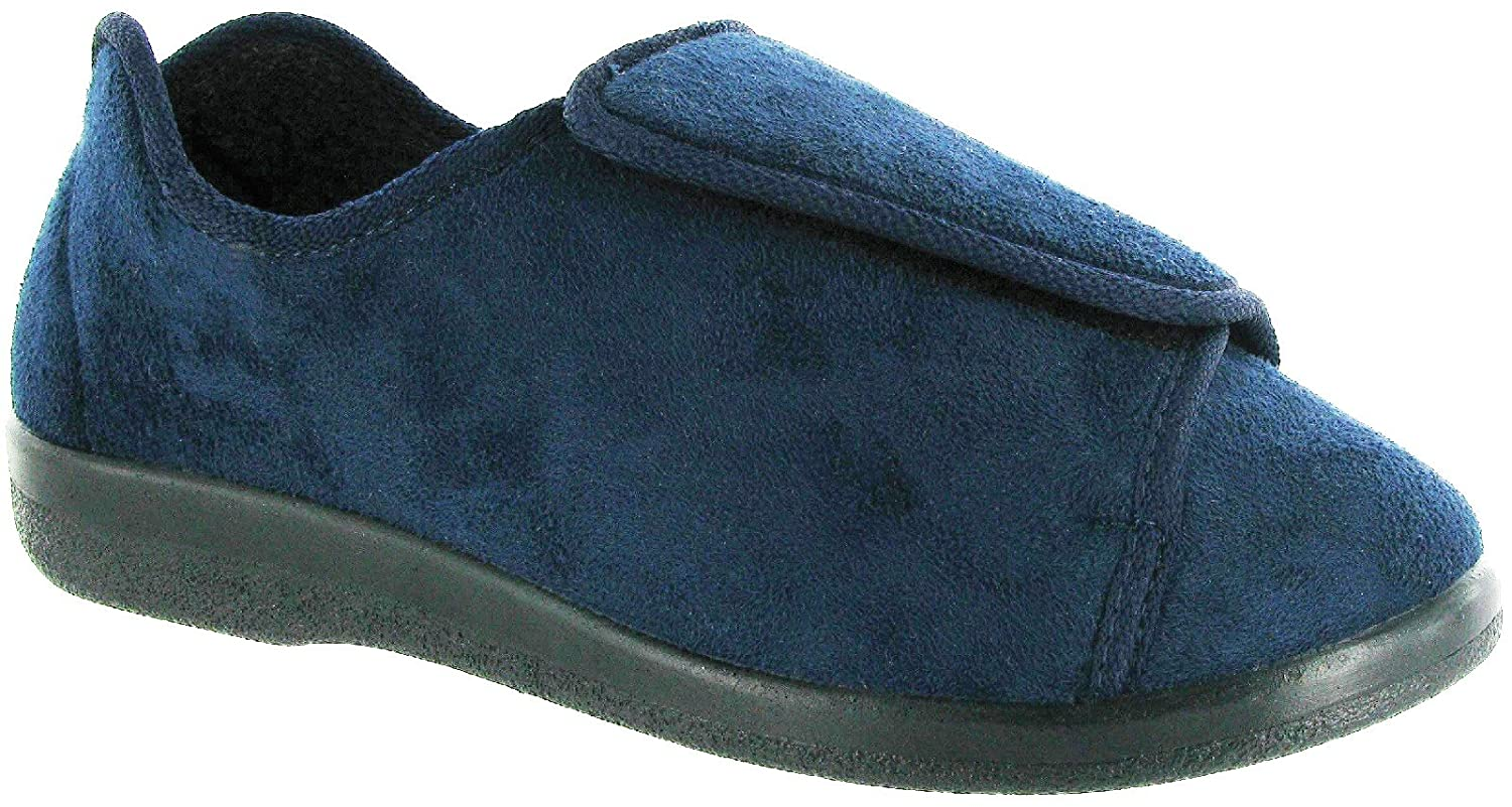 GBS Med WALTON Unisex Medical Wide Fitting Slippers Navy