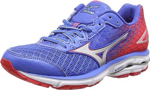 Mizuno Wave Rider 19, Zapatillas de Running para Mujer, Azul (Palace Blue/Silver/Diva Pink), 36 1/2 EU: Amazon.es: Zapatos y complementos