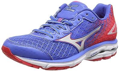 Mizuno Wave Rider 19, Chaussures de Running Compétition Femme - Bleu - Blue  (Palace