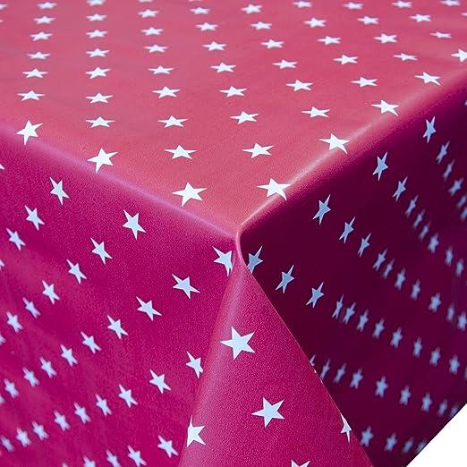 Hule Mantel Metro lavable con diseño de estrellas color rojo ...