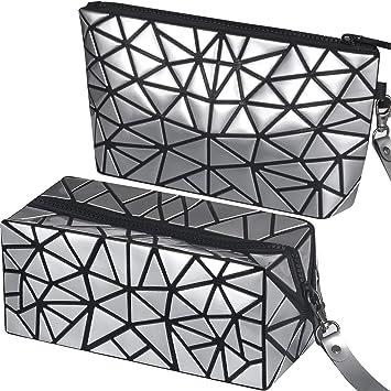 Amazon.com: Paquete de 2 bolsas de maquillaje, bolsa de ...