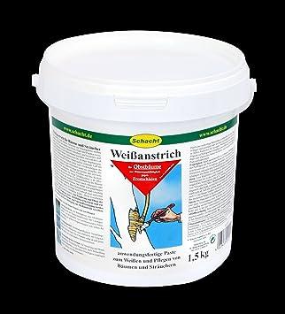 Schacht 1WEIS901 Wei/ßanstrich 1 kg f/ür Obstb/äume gegen Frostrisse