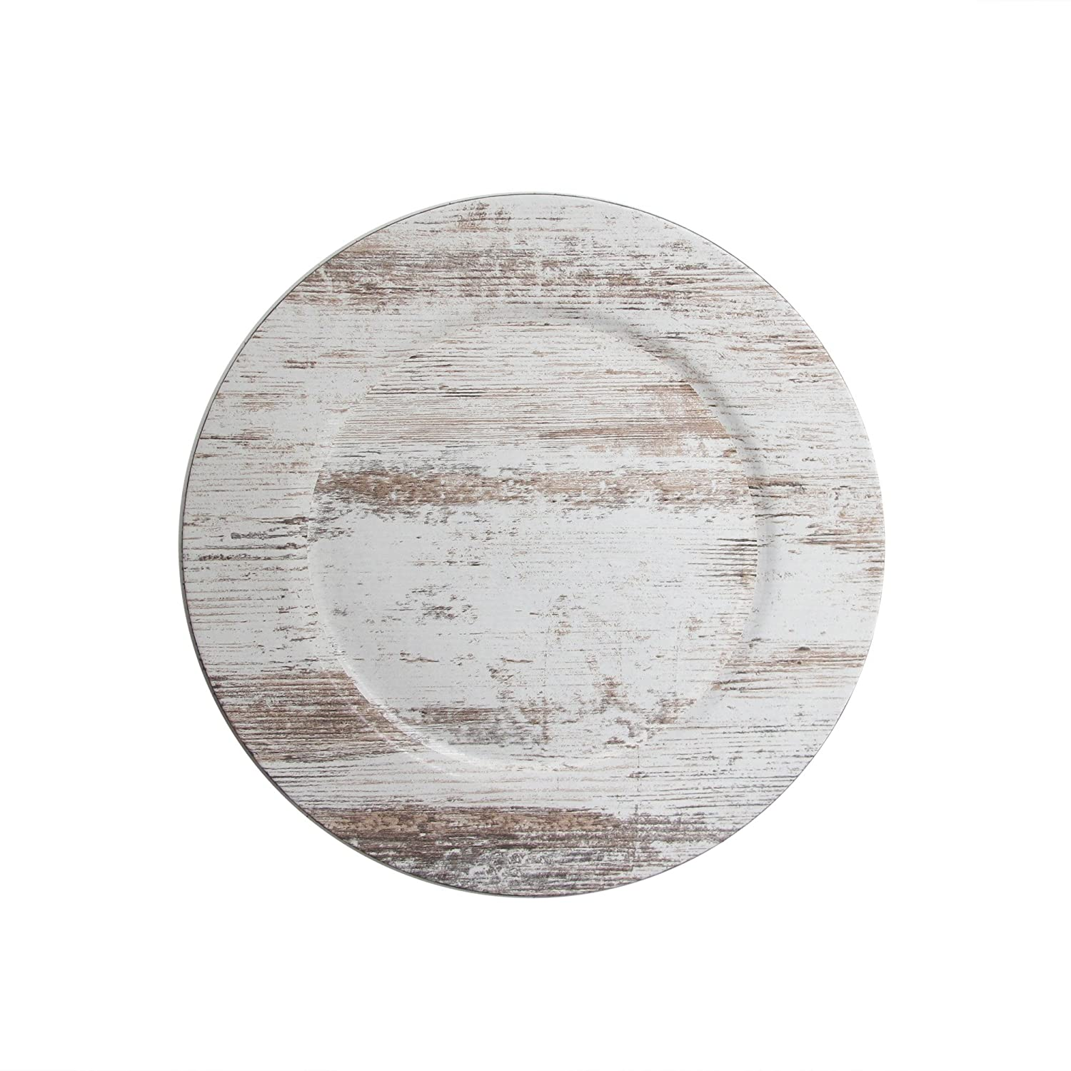 ChargeIt by Jay1270506-4 Birch WoodSet of 4 Round Melamine Charger Plates13x13