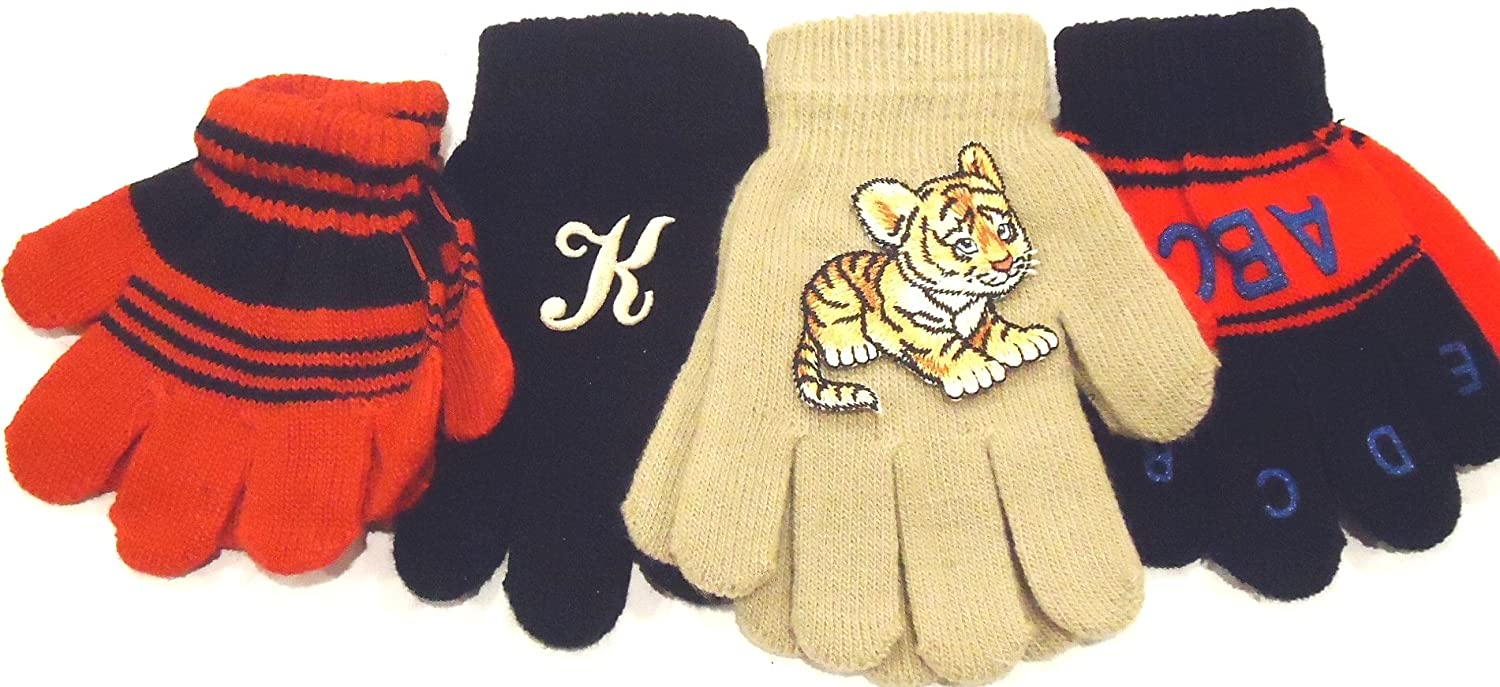 wholesale Four Pairs Magic Gloves for Infants Ages 1-3 Years One Pair with Monogram free shipping