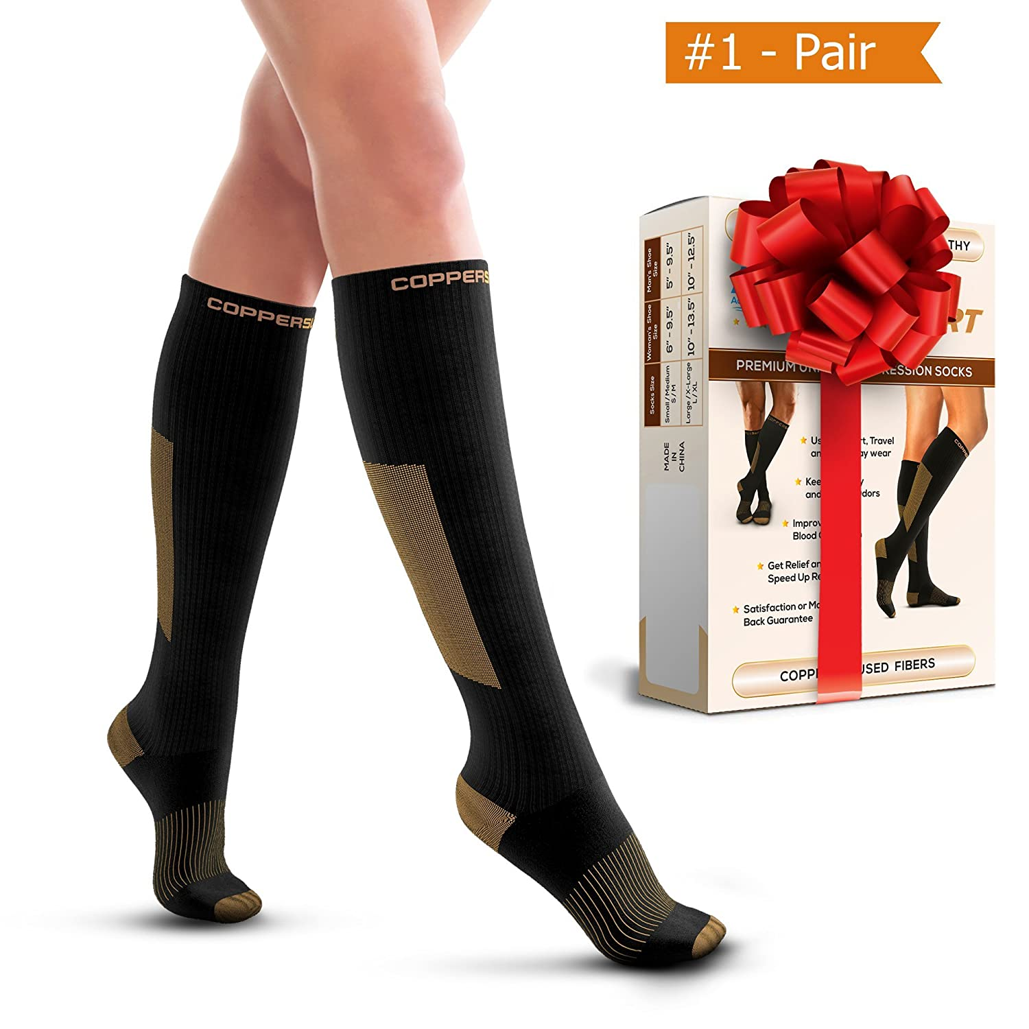 2a9a79b95 Amazon.com  Compression Socks for Men   Women - Great For Sports - Running
