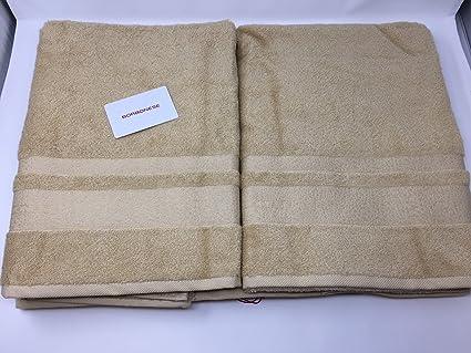 2c5f99747c Set 5 asciugamani Borbonese art. Borbonissima (2 coppie spugna + 1 telo)  (caramello): Amazon.it: Casa e cucina