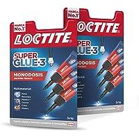Loctite Super Glue - 3 Mini Trio, pegamento universal con triple resistencia, adhesivo transparente, pegamento…