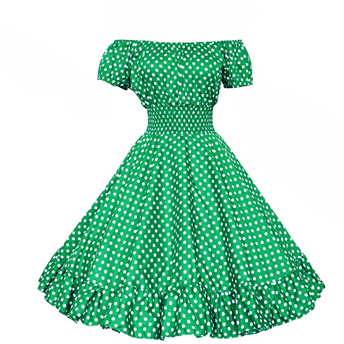 Vintage Dresses Australia- 20s, 30s, 40s, 50s, 60s, 70s Maggie Tang 50s Vintage Swing Rockabilly Pinup Ball Gown Party Polka Dots Dress AUD 115.06 AT vintagedancer.com