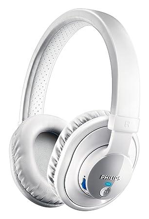 Philips NFC - Auriculares de diadema cerrados Bluetooth (con micrófono), blanco: Amazon.es: Electrónica