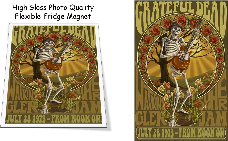 "Grateful Dead 1973 Concert Poster 3""X4"" Flexible Fridge Magnet, High Gloss Photo Finish"