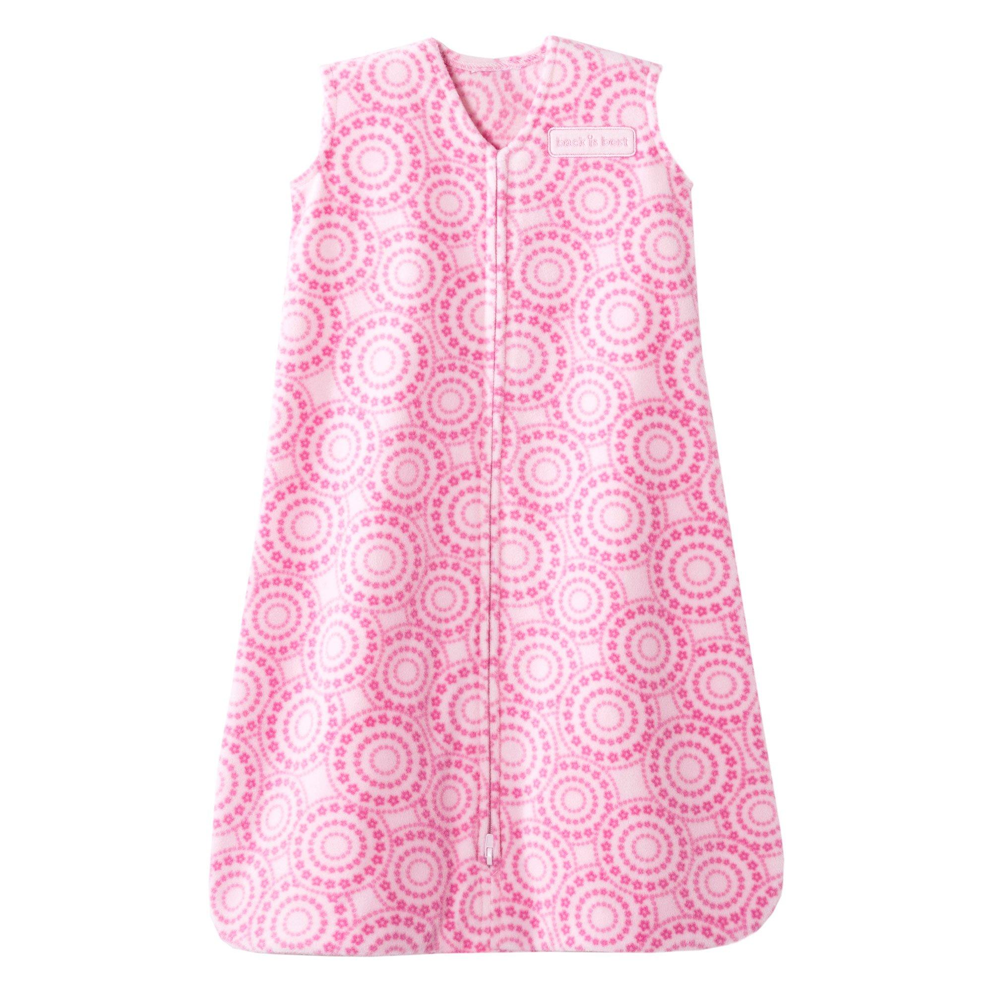 Halo Sleepsack Micro-Fleece Wearable Baby Blanket, Petal Swirl Pink, Small