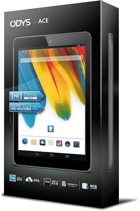 ODYS Ace 8GB Negro - Tablet (Minitableta, Android, Pizarra, Android, Negro, Polímero de litio): Amazon.es: Informática