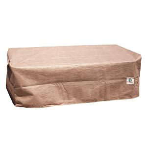"""Duck Covers Elite Rectangular Patio Ottoman or Side Table Cover, 52"""" L x 30"""" W x 18"""" H"""