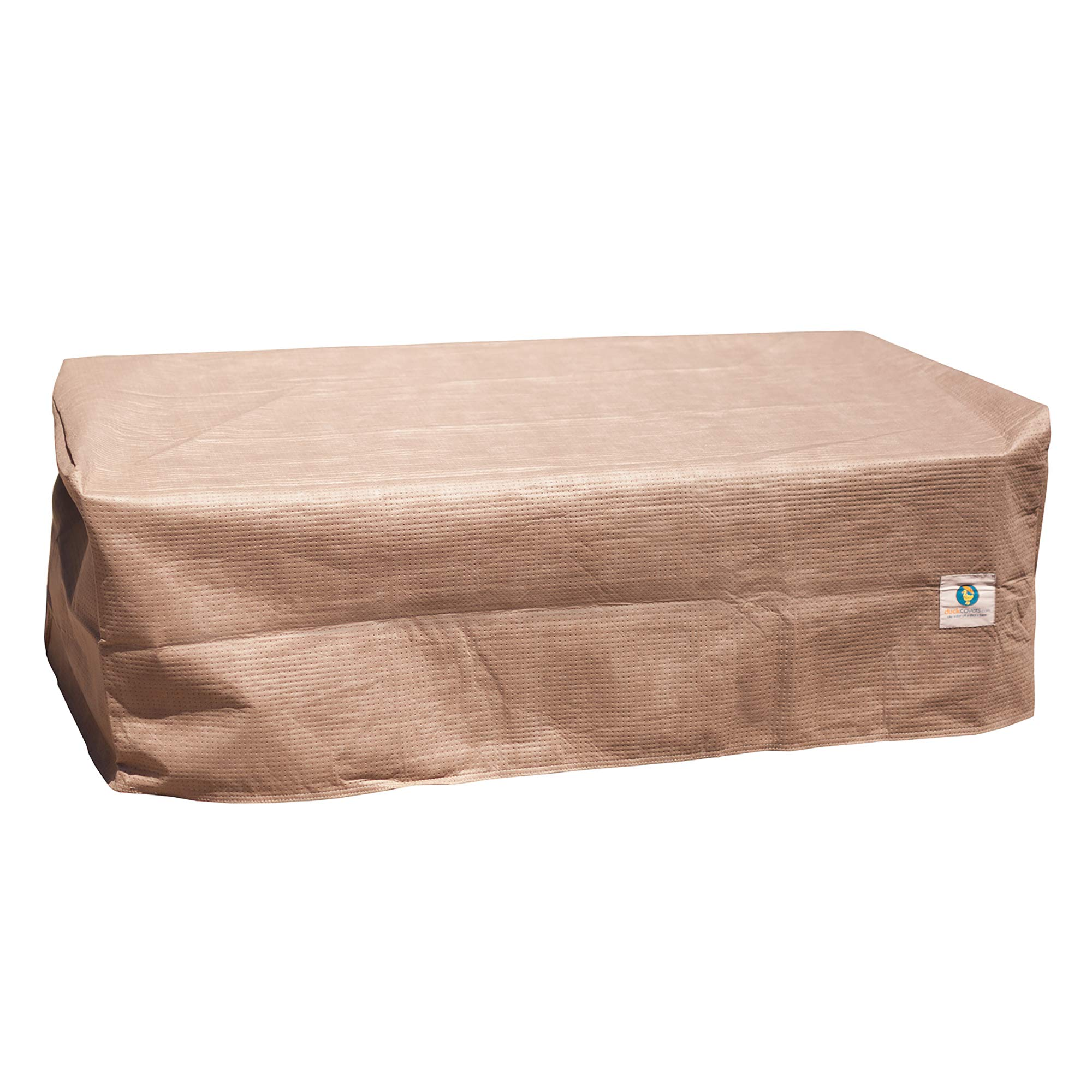 Duck Covers Elite Rectangular Patio Ottoman or Side Table Cover, 52'' L x 30'' W x 18'' H