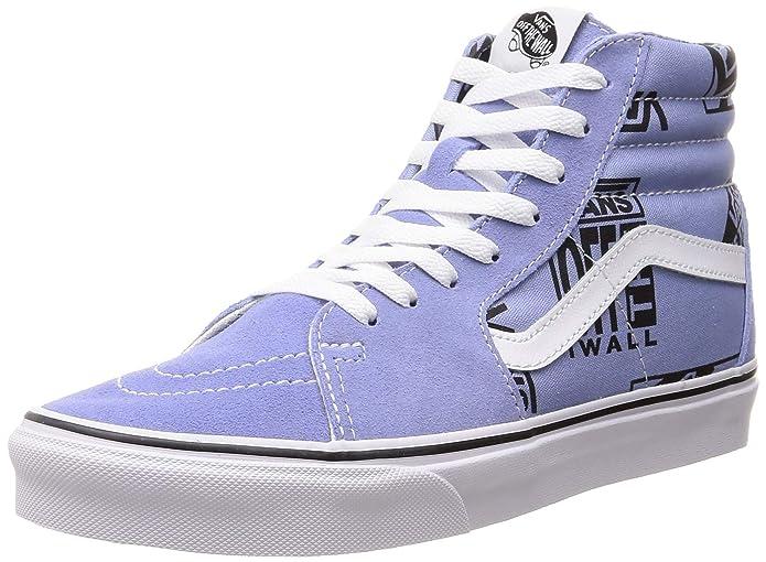 Vans Sk8-Hi High Top Sneaker Damen Herren Kinder Unisex Lavendel mit Logo