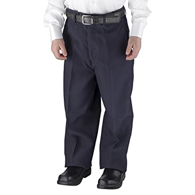 Alberto Cardinali Solid Belted Flat Front Boys Dress Pants