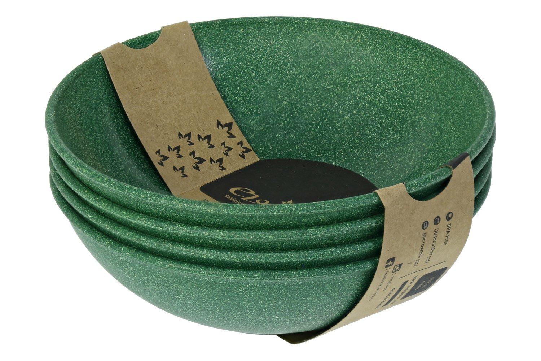 EVO Sustainable Goods 951 Bowl Set, 35 oz, Dark Green