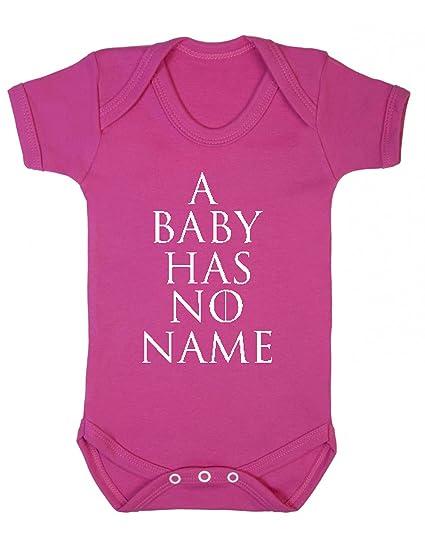 Juego de Tronos un bebé no tiene nombre chaleco Babygrow Mono divertido blanco roto Rosa oscuro