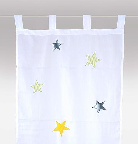 bambiente Rideau Voilage \'étoiles garcon\' (petite version ...