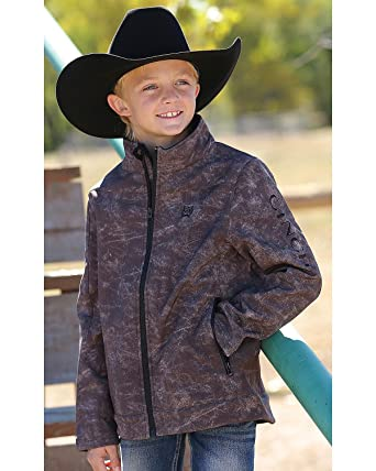 85995e0e55b1 Amazon.com  Cinch Boys  Boy s Print Bonded Jacket Brown Medium  Clothing