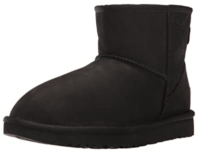 UGG Women's Classic Mini Snake Winter Boot, Black, 3.5 UK/5 ...