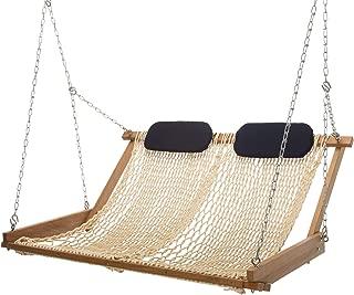 product image for Nags Head Hammocks Original Cumaru Rope Porch Swing, Oatmeal DuraCord