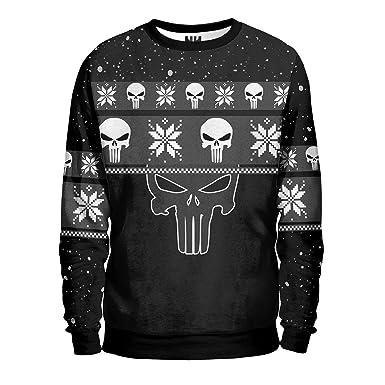 Noorhero Men's Sweatshirt - The Punisher Christmas: Amazon.co.uk: Clothing