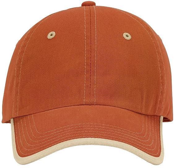 Port Authority - Vintage Washed Contrast Stitch Cap. C835 - Bright Orange    Light Sand c8147a244735