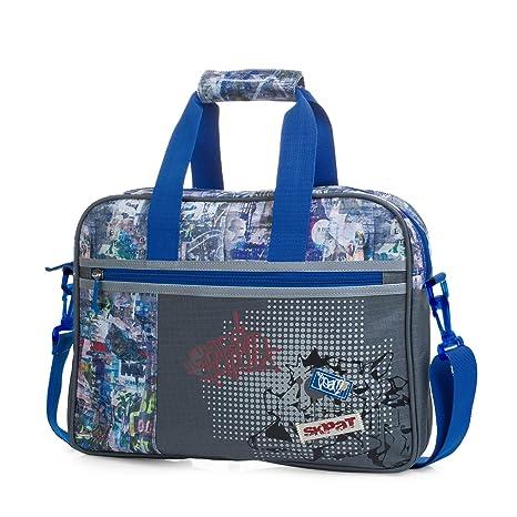 SKPAT - Mochila maletín extraescolar con Bandolera Ajustable y 2 Asas. Bolsillo Exterior con Cremallera