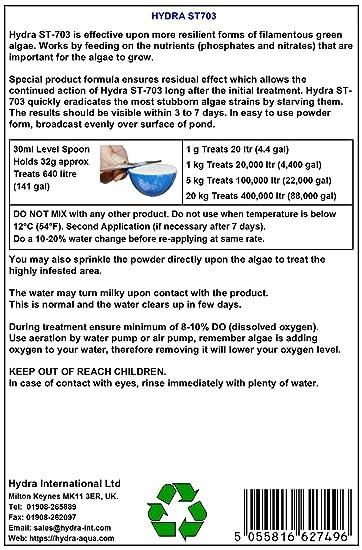 Hydra ST703 - altamente resistente contra el estanque filamentosas ...