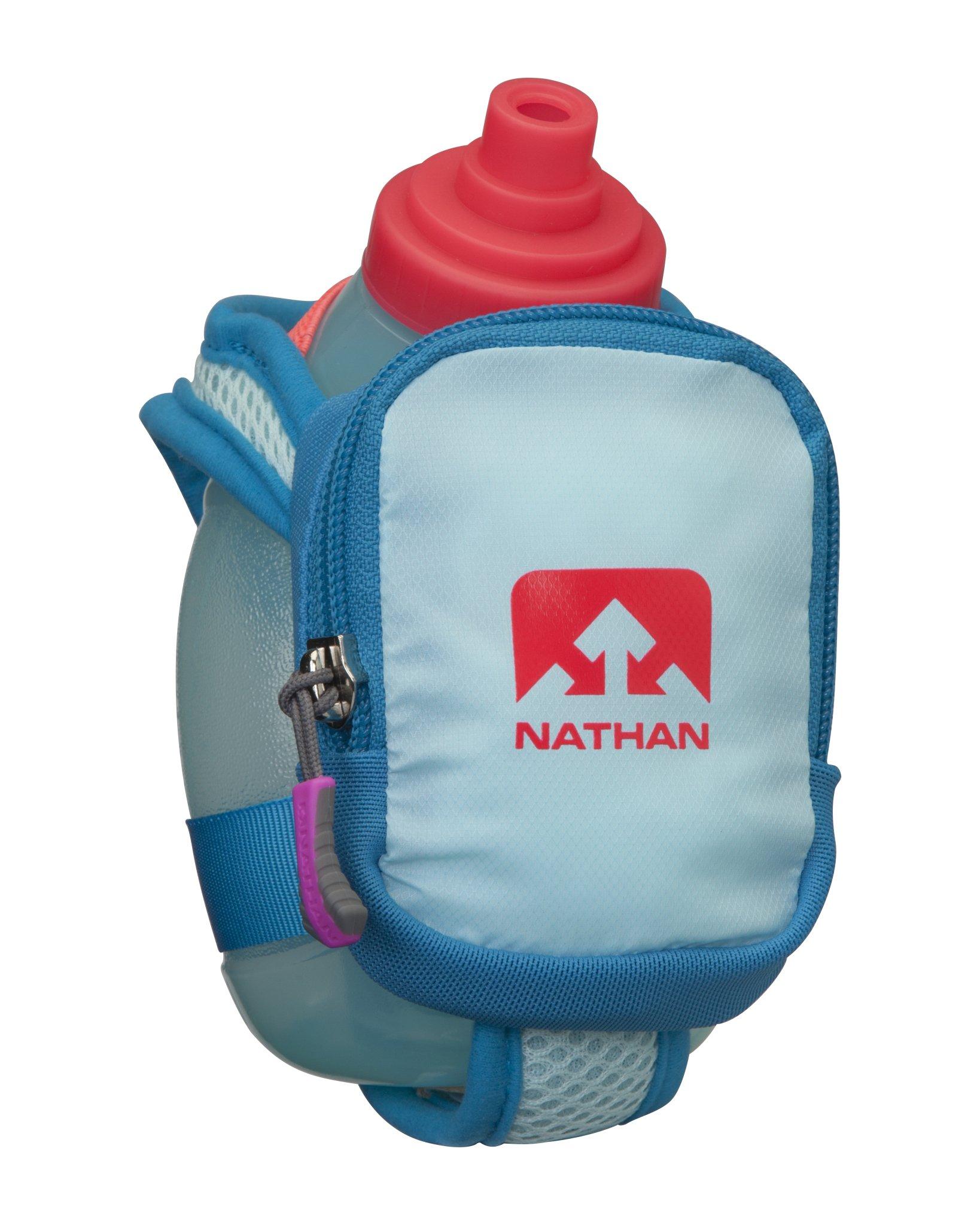 Nathan QuickShot Plus Flask, Blue Danube/Diva Pink, One Size