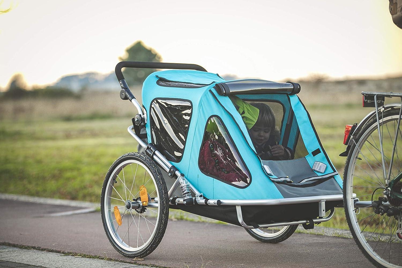 Aurotek Yogui Twin Remolque Bici para Niños, de Dos Plazas, de ...
