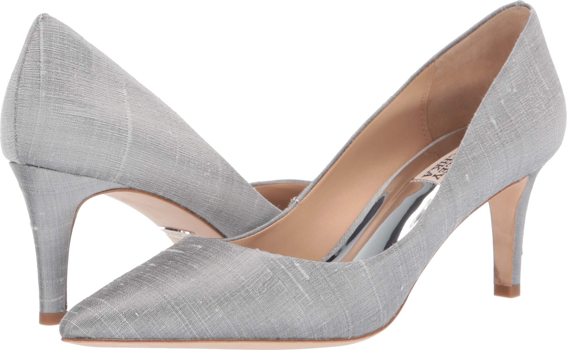 Badgley Mischka Women's Lana Pump, Silver Silk, 6.5 M US by Badgley Mischka