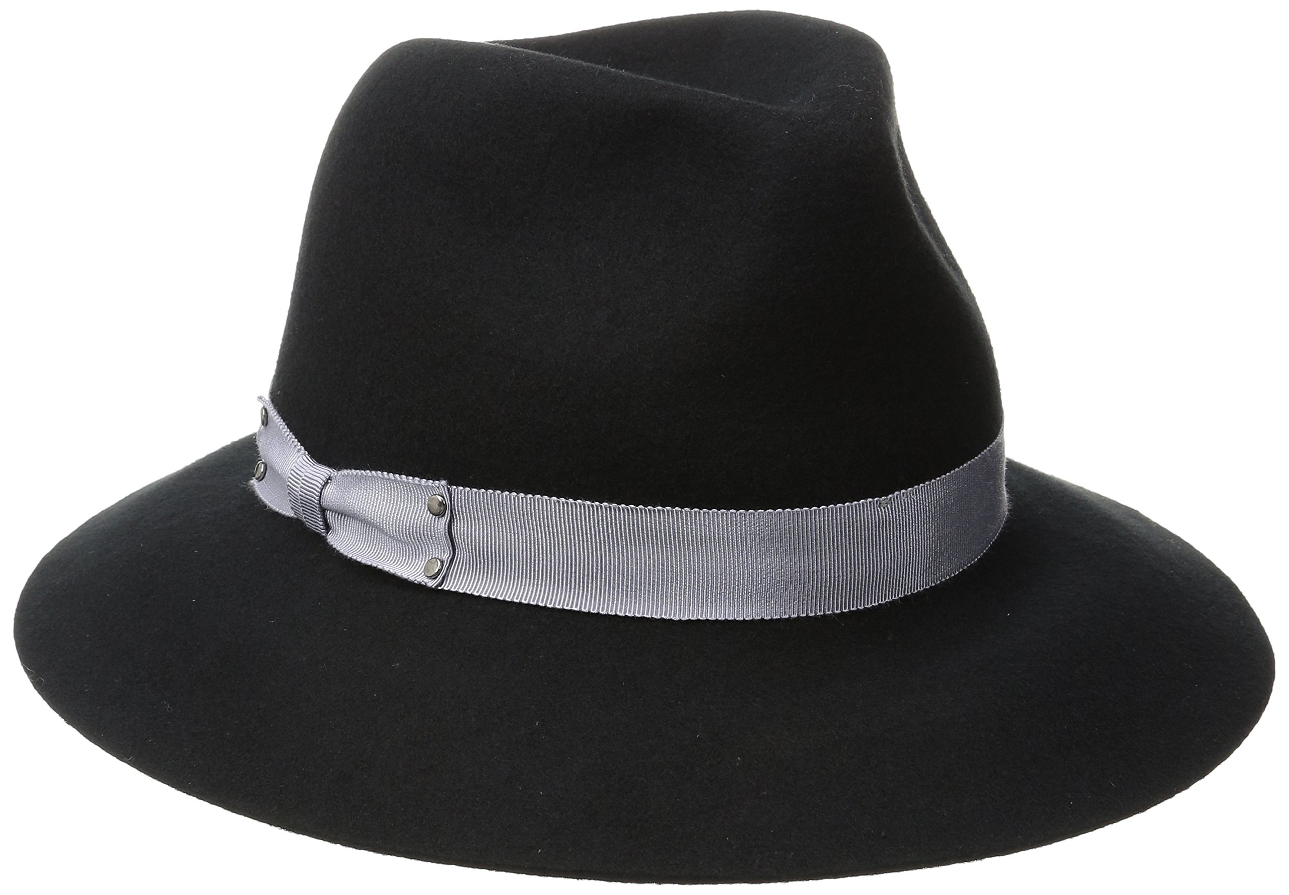 Genie by Eugenia Kim Women's Florence Wool Felt Wide-Brim Fedora Hat, Black, One Size by Genie by Eugenia Kim