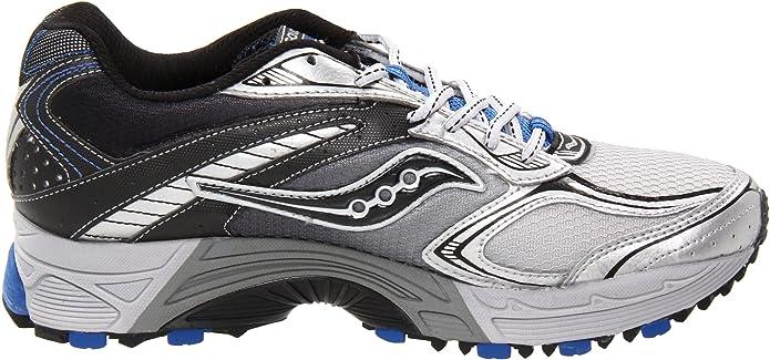 Amazon.com | Saucony Mens ProGrid Guide TR4-M, Silver/Black/Royal, 7 M US | Trail Running